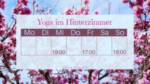 Programm Yoga Hinterzimmer